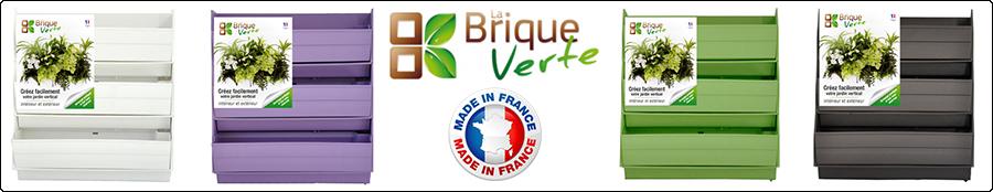 Module La Brique Verte support pour mur végétal