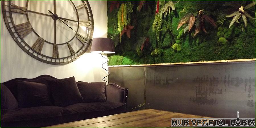 Mur végétal d'intérieur stabilisé sans entretien