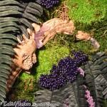 Cadre végétal stabilisé Tablo'Nature 30x30cm Purple Crystal