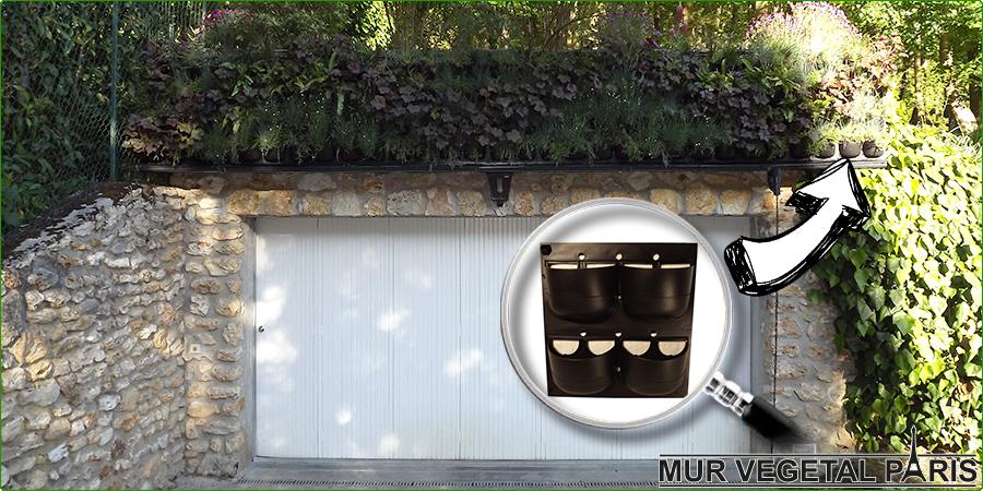 Création d'un mur végétal extérieur Flowall 2