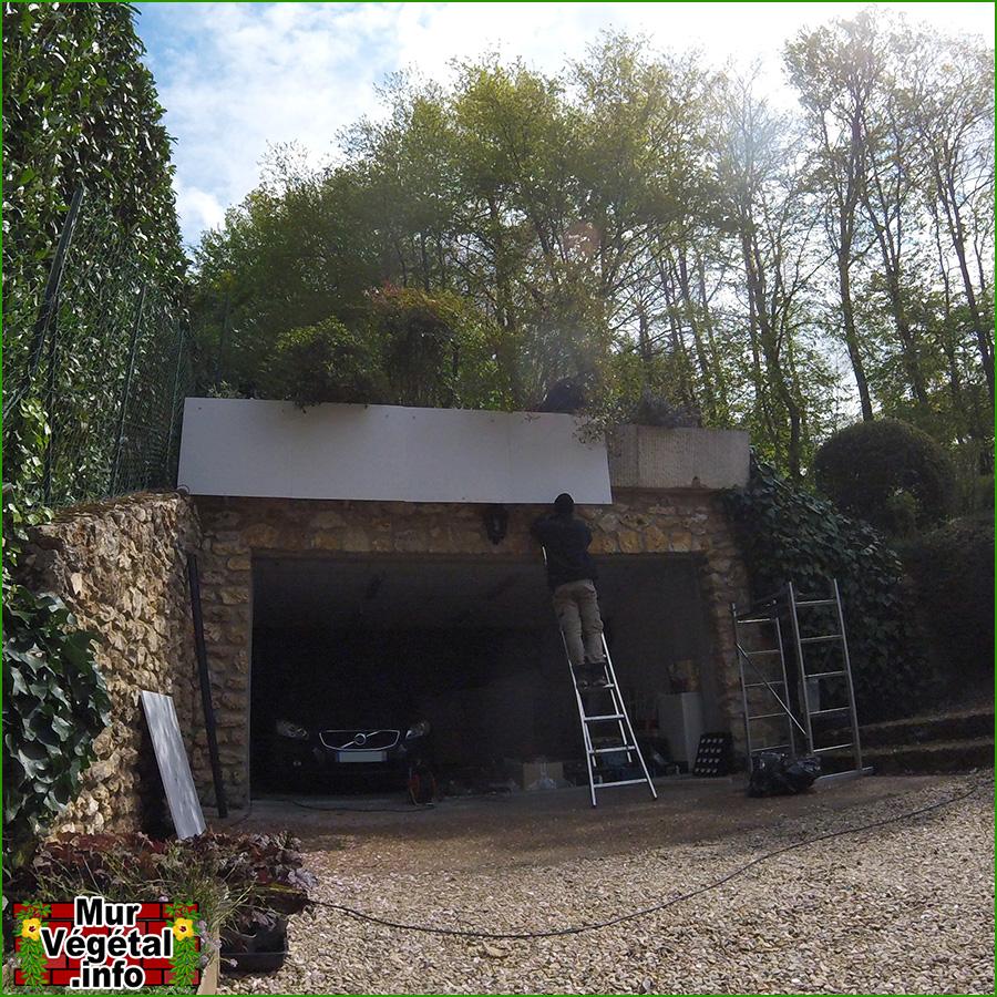 Creation Mur Vegetal Exterieur création d'un mur végétal extérieur flowall - mur-végétal